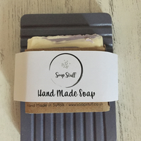 Handmade Soap Dish & Vegan Soap Set