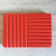 Funky Handmade Soap Dish - Bright Red