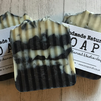 Activated Charcoal & Kaolin Clay Soap - Handmade - Vegan - Unscented