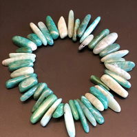 Genuine Amazonite Stretchy Bracelet