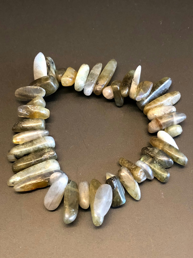 Genuine Labradorite Stretchy Bracelet