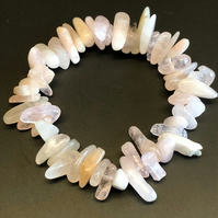 Genuine Morganite Stretchy Bracelet