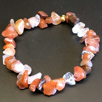 Genuine Carnelian Stretchy Bracelet