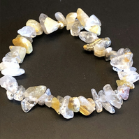 Genuine Golden Rutile Quartz Stretchy Bracelet