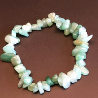 Genuine Green Aventurine Stretchy Bracelet