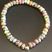 Genuine Multi-Colour Jasper Stretchy Bracelet