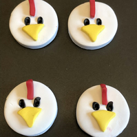 Cheeky Chicken Polymer Clay Buttons