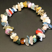 Multi Gemstone Stretchy Bracelet