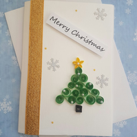 Handmade 3D Quilled Christmas Card Quilling Seasons Greetings