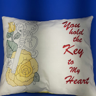 Key to my heart cushion for the loved one in your life