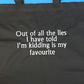 Funny quote 100% cotton tote shopping bag. Mothers day gift