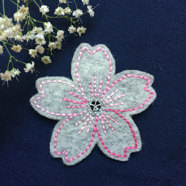 Spring Floral Cushion Keyring// Broach Accessories Gift