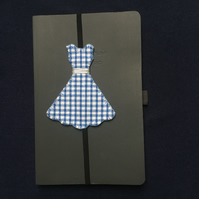 Blue and White Gingham Dress Bookmark