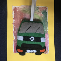 Felt T4 VW Transporter Camper Van Ornament or Keyring