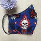 SALE Reusable Skulls Tattoo Fabric Face Mask with Nose Wire & Pocket Adult Child