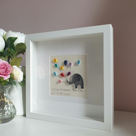 Personalised new baby Elephant gift, Christening gift, Naming Ceremony,