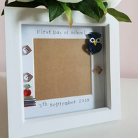 First day of school frame, 1st day of school, personalised frame