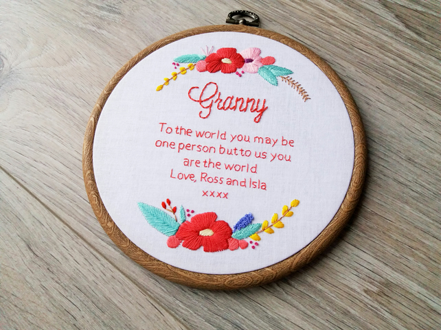 To The World...Personalised Gift for Mum, Gran, Nan, Nanna, Nanny etc