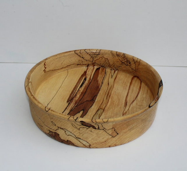 Hand turned spalted beech bowl