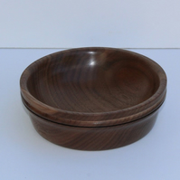 Lathe turned Walnut bowl