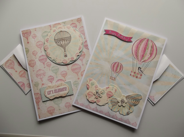 Pack of Two Birthday Cards with Gift Tags.