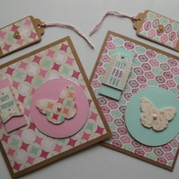 Pack of Two Birthday Cards with Gift Tags