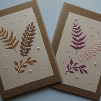 Pack of Two Greetings Cards.