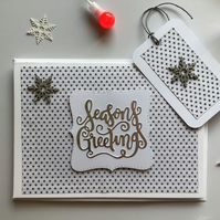 Christmas Card and Gift Tag Set.