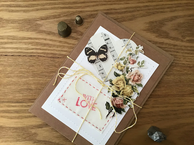 Vintage, Shabby Chic style Greetings Card