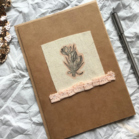 Hand-stamped Tulip Style Flower Greetings Cards