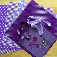 Pretty Purple Fabric, Crafting Pack