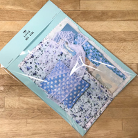 Blue Themed Sewing, Collage Pack