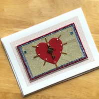 Sacred Heart Style Greetings Card