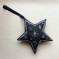 Black and White Star Decoration