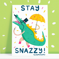 Stay Snazzy Postcard