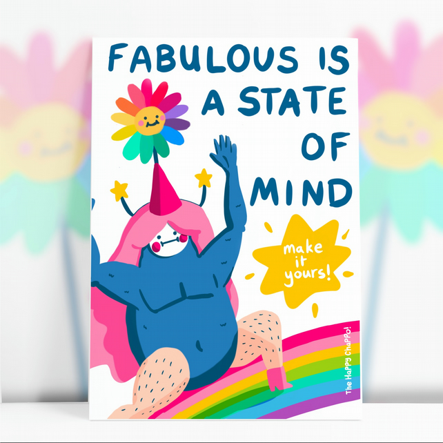 Fabulous Is A State Of Mind  Postcard