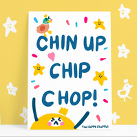 Chin up Chip chop Postcard