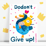 Dodont give up! Motivational Postcard
