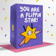 You Are A Flippin Star! Valentines Birthday Congratulations Greetings Card