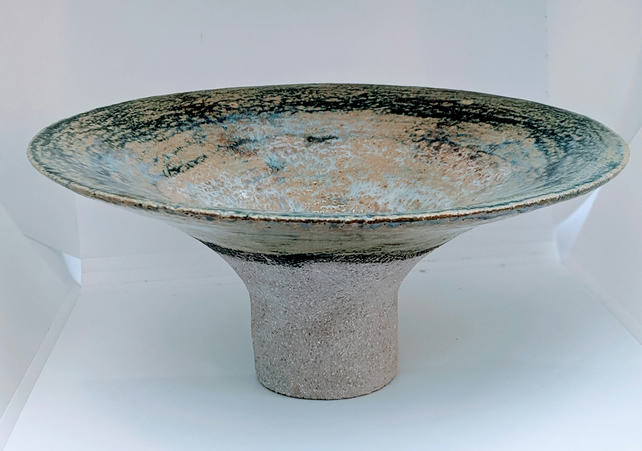 "Footed bowl with flared rim from the ""Spring Series""."