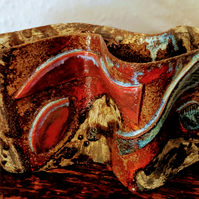 Abstract ceramic decorative form