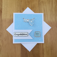 It's a Boy Card - New Baby Boy Card - New Baby - Congratulations Card