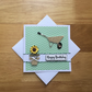 Birthday Card for Gardening Lovers - Homemade Birthday Card