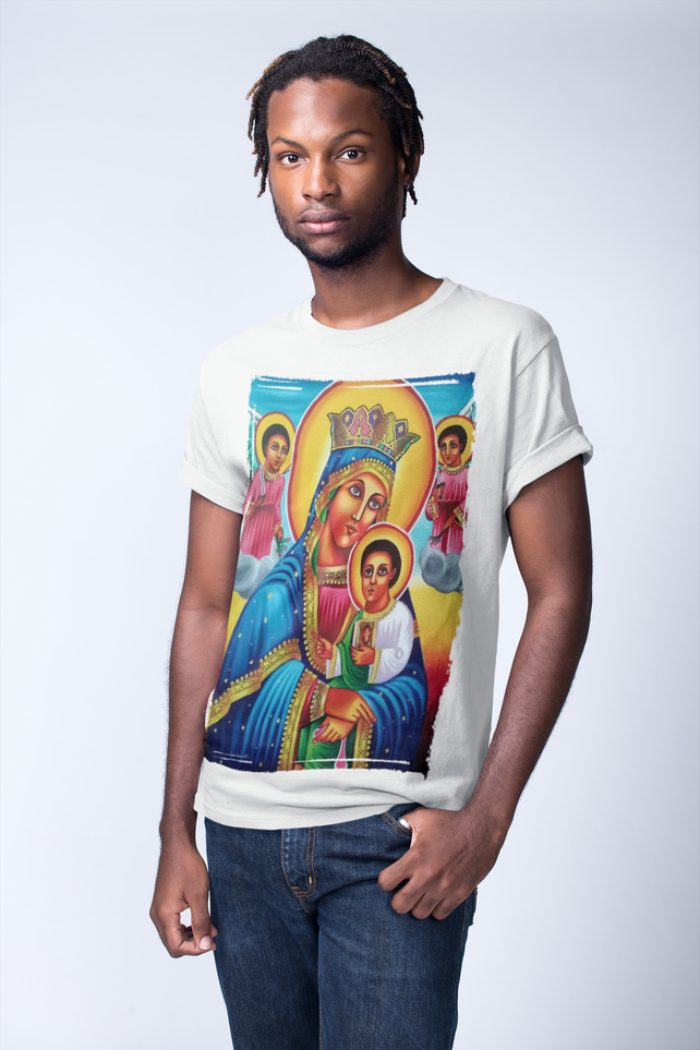 Mother of God Theotokos t shirt ,Ethiopian Orthodox tshirt