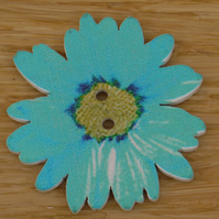 Blue large Flower button embellishment