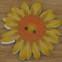 Large yellow flower button embellishment
