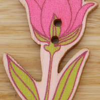 Pink Tulip Button Embellishment