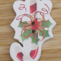 Candy Cane Christmas button