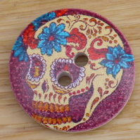 Day of the Dead skull buttons