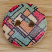 Mackintosh style wooden buttons